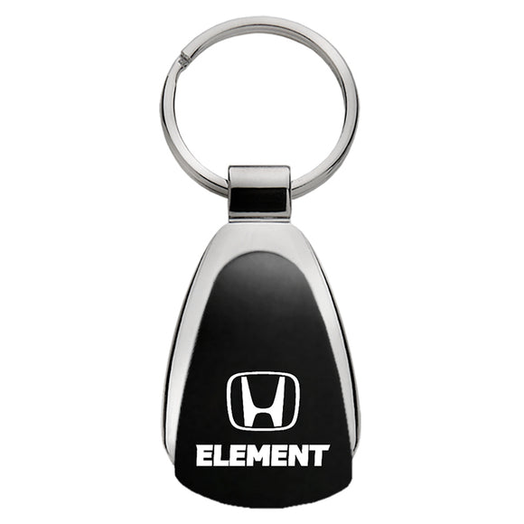 Honda Element Keychain & Keyring - Black Teardrop