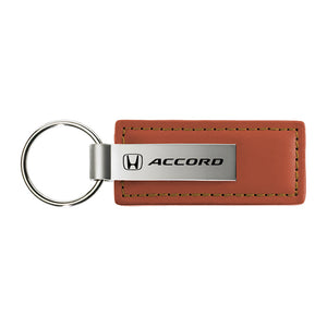 Honda Accord Keychain & Keyring - Brown Premium Leather
