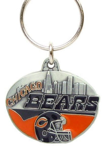 Chicago Bears NFL Keychain & Keyring - Pewter