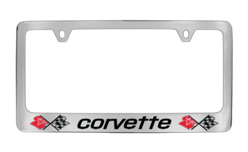 Chevrolet Corvette C3 Chrome Plated Metal License Plate Frame Holder