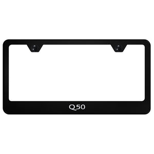Infiniti Q50 Black License Plate Frame