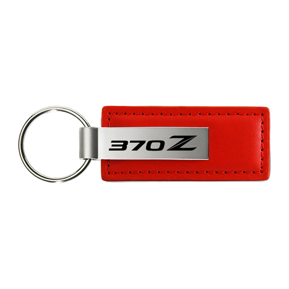 Nissan 370Z Keychain & Keyring - Red Premium Leather