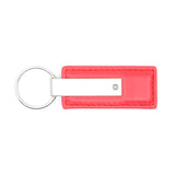 Ford Keychain & Keyring - Red Premium Leather