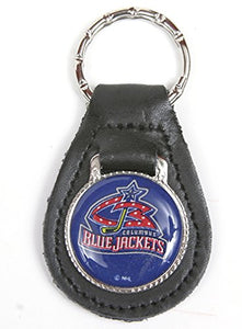 Columbus Blue Jackets NHL Keychain & Keyring - Leather
