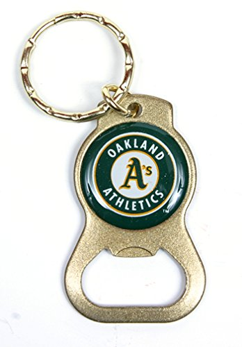 Oakland Athletics MLB Keychain & Keyring - Bottle Opener - Gold