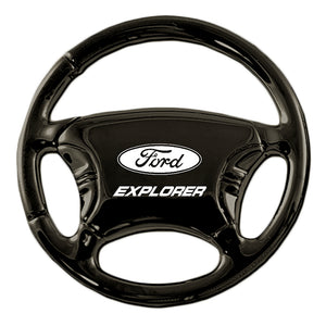 Ford Explorer Keychain & Keyring - Black Steering Wheel
