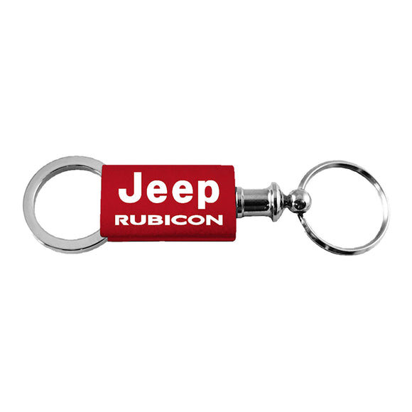 Jeep Rubicon Keychain & Keyring - Red Valet
