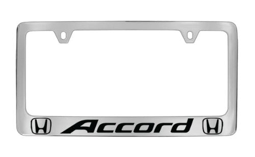 Honda Accord Chrome Plated Metal License Plate Frame Holder