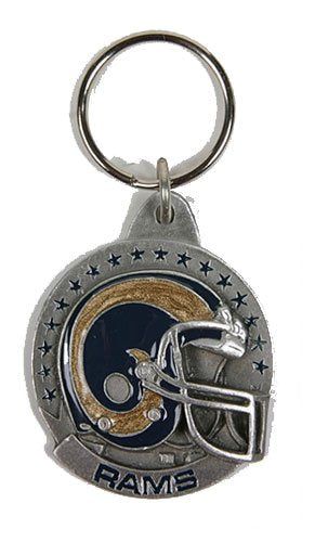 St. Louis Rams NFL Keychain & Keyring - Pewter