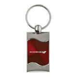 Dodge Stripe Keychain & Keyring - Burgundy Wave