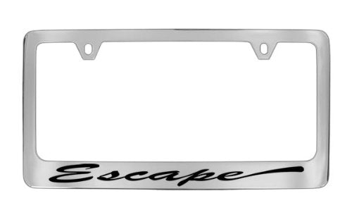 Ford Escape Script Chrome Plated Metal License Plate Frame Holder