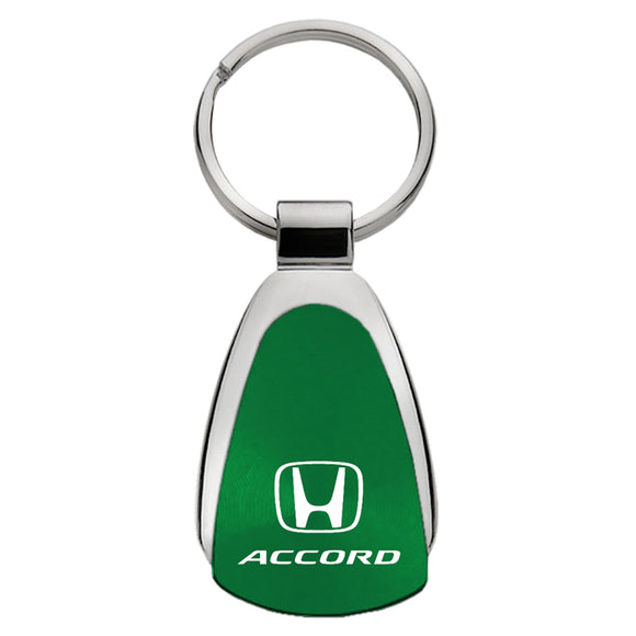 Honda Accord Keychain & Keyring - Green Teardrop