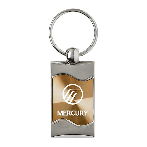 Mercury Keychain & Keyring - Gold Wave