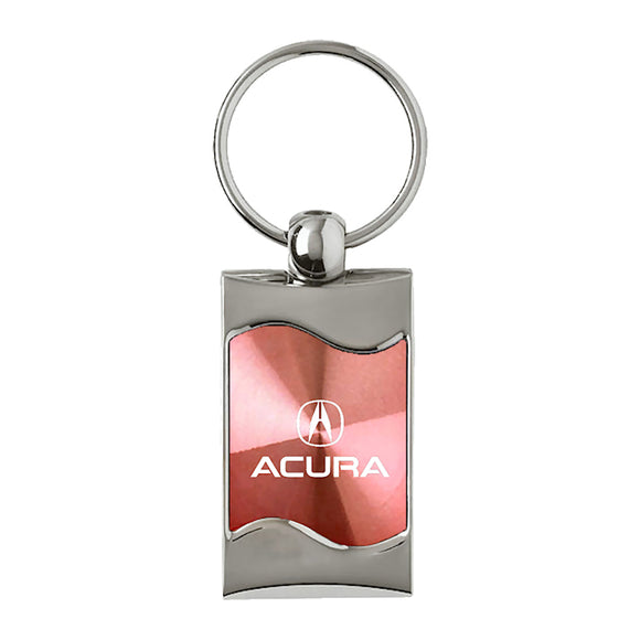Acura Keychain & Keyring - Pink Wave