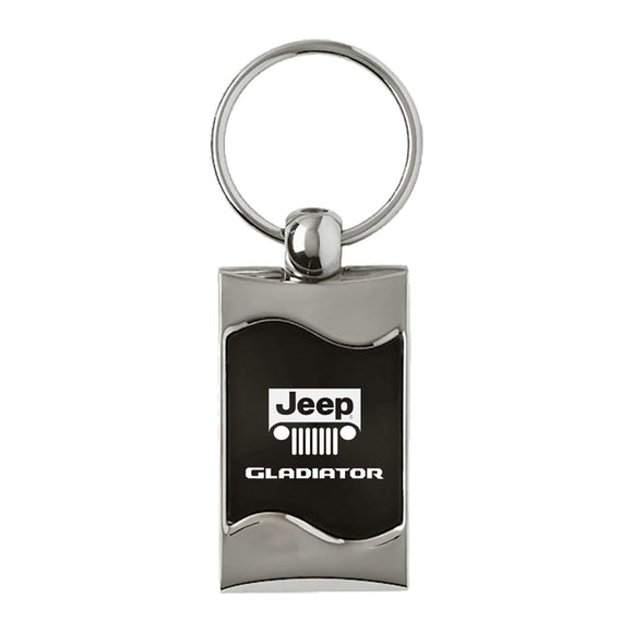Jeep Gladiator Keychain & Keyring - Black Wave