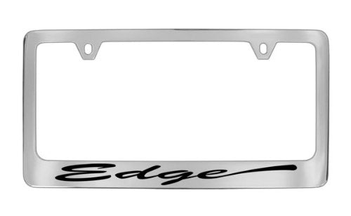 Ford Edge Script Chrome Plated Metal License Plate Frame Holder