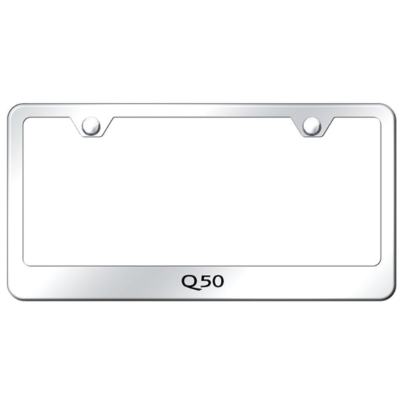 Infiniti Q50 Mirrored License Plate Frame