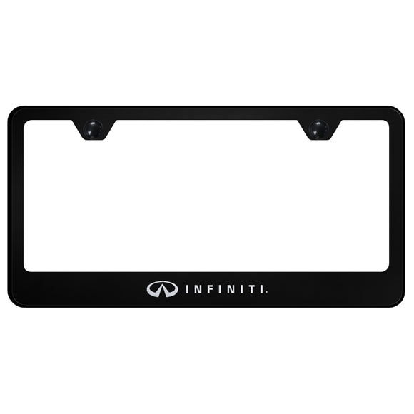 Infiniti Black License Plate Frame