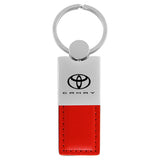 Toyota Camry Keychain & Keyring - Duo Premium Red Leather