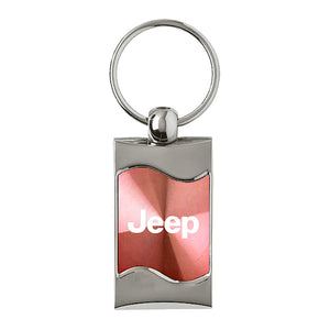 Jeep Keychain & Keyring -Pink Wave