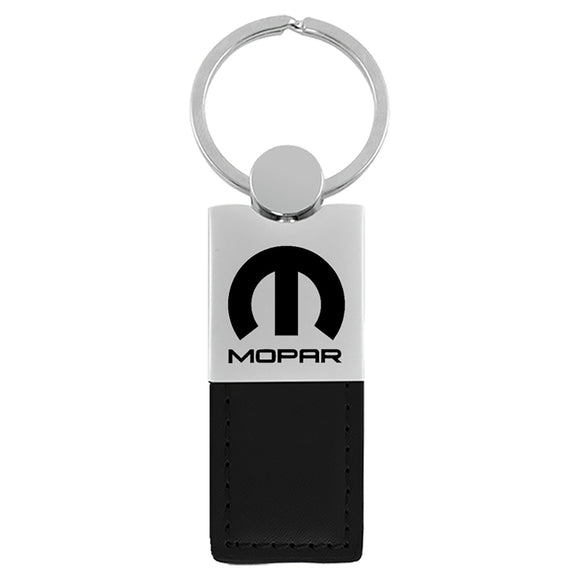 Mopar Keychain & Keyring - Duo Premium Black Leather