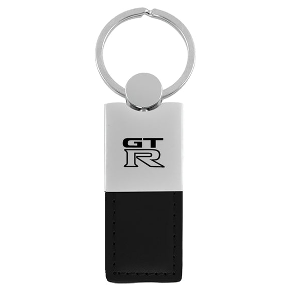 Nissan GT-R Keychain & Keyring - Duo Premium Black Leather