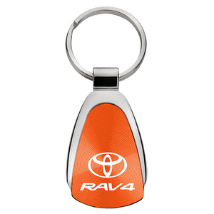 Toyota RAV4 Keychain & Keyring - Orange Teardrop