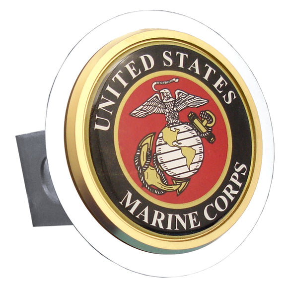 US Marine Corps Chrome Trailer Hitch Cover Plug (1.5