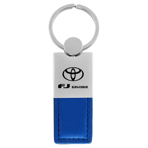 Toyota FJ Cruiser Keychain & Keyring - Duo Premium Blue Leather
