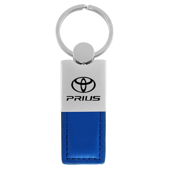 Toyota Prius Keychain & Keyring - Duo Premium Blue Leather
