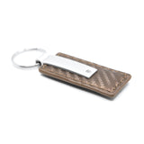 Jeep Grand Cherokee Keychain & Keyring - Brown Carbon Fiber Texture Leather