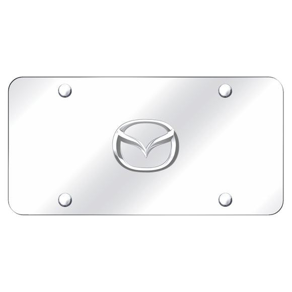 Mazda New-Logo Chrome on Chrome Plate