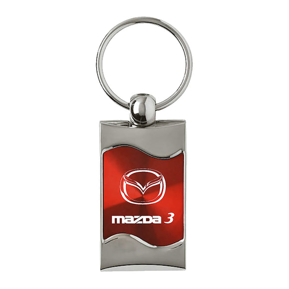Mazda 3 Keychain & Keyring - Red Wave