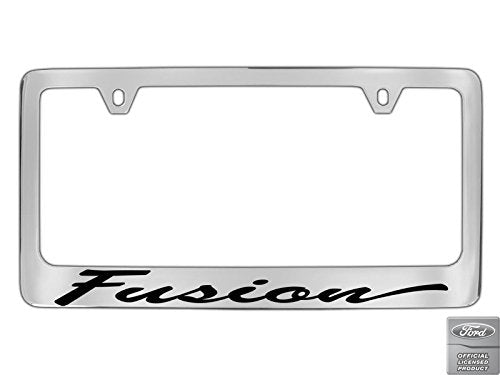 Ford Fusion Script Chrome Plated Metal License Plate Frame Holder
