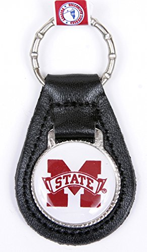 Mississippi State Bulldogs Keychain & Keyring - Leather