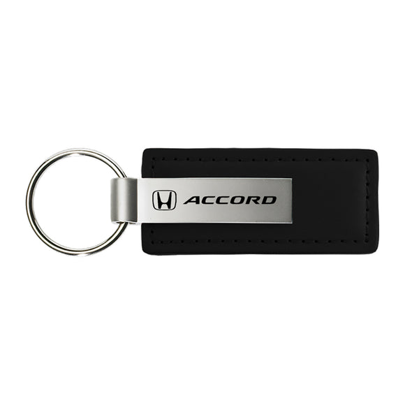 Honda Accord Keychain & Keyring - Premium Black Leather