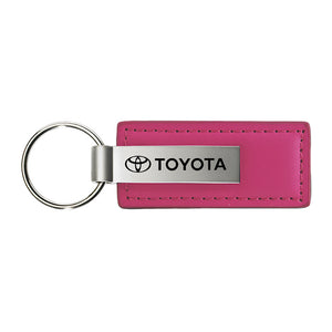 Toyota Keychain & Keyring - Pink Premium Leather