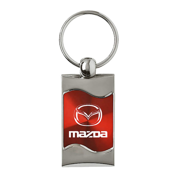 Mazda Keychain & Keyring - Red Wave