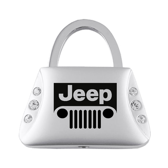 Jeep Grill Keychain & Keyring - Purse with Bling