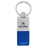 Acura Keychain & Keyring - Duo Premium Blue Leather