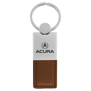 Acura Keychain & Keyring - Duo Premium Brown Leather