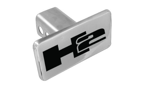 Hummer H2 Logo Solid Metal Chrome Trailer Hitch Cover