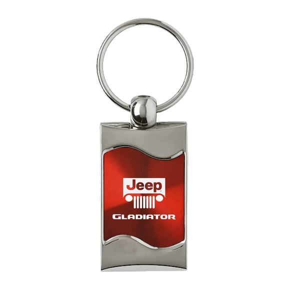Jeep Gladiator Keychain & Keyring - Red Wave