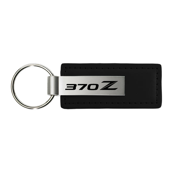 Nissan 370z Keychain & Keyring - Premium Black Leather