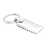 Cadillac Keychain & Keyring - Rectangle with Bling White