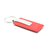 Ford Mustang Keychain & Keyring - Red Carbon Fiber Texture Leather