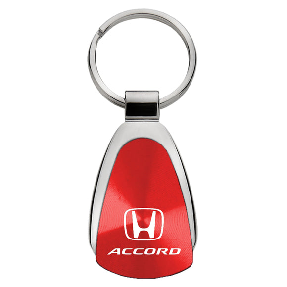 Honda Accord Keychain & Keyring - Red Teardrop