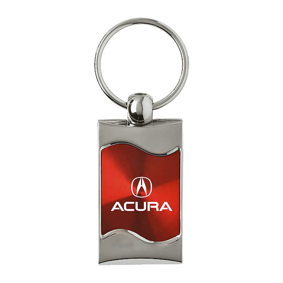 Acura Keychain & Keyring - Red Wave