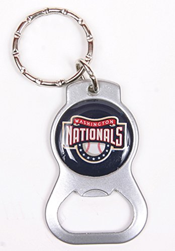 Washington Nationals MLB Keychain & Keyring - Bottle Opener - Silver