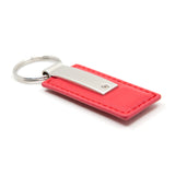 Dodge Stripe Keychain & Keyring - Red Premium Leather